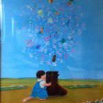福岡雅子先生と生徒さんたち 色鉛筆プチ絵画展 at まどか村